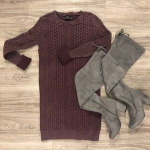 7a6732b645f42d Abercrombie Cable Knit Sweater Dress